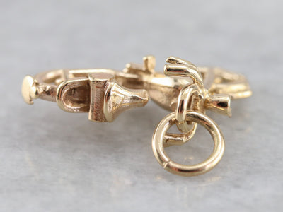Gold Motorcycle Charm