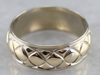 Unisex Mixed Metal Pattern Band