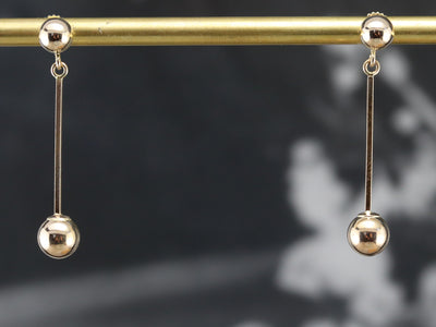 Minimalist Gold Drop Earrings