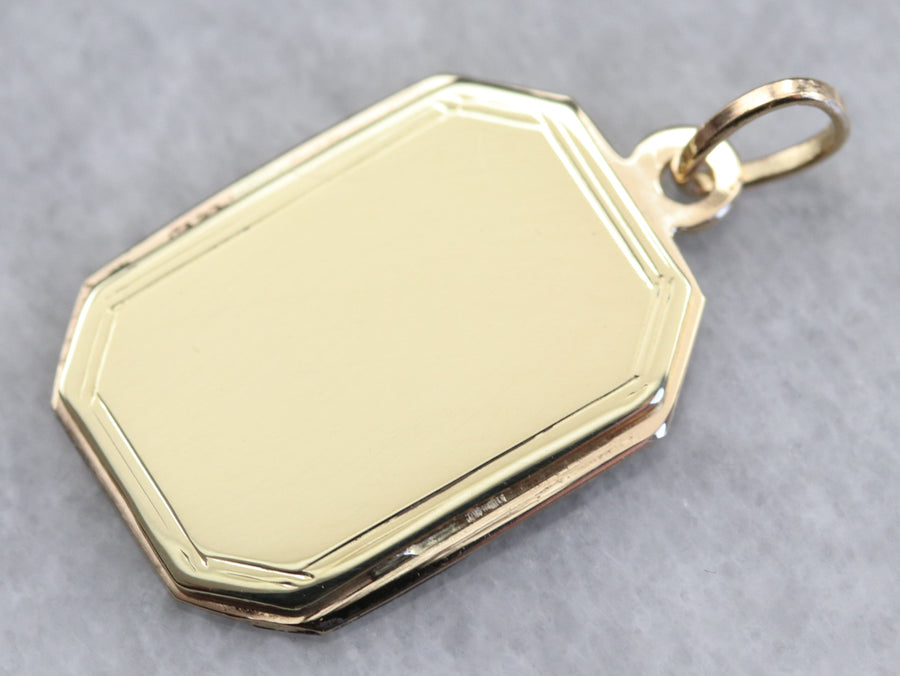 Plain Gold Octagon Pendant