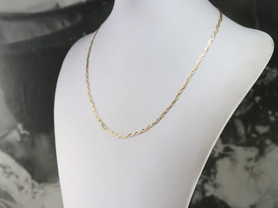Italian Tri-Color Gold Braided Chain