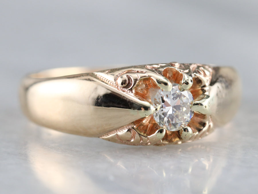 Victorian Diamond Belcher Ring