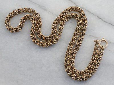 Ornate Victorian Gold Necklace