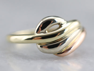 Tri-Color Gold San Marco Style Ring
