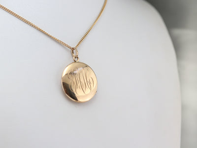 "Vintage ""FCH"" Monogram Locket"