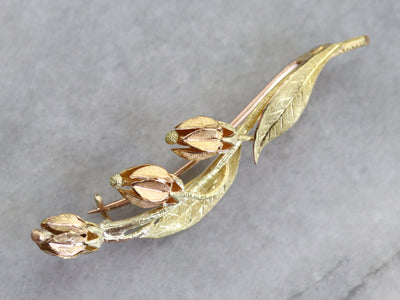 Retro Era Lily of The Valley Pin