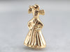 Vintage Gold Little Girl Charm