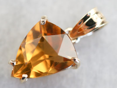 Citrine and Yellow Gold Pendant