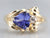 Vintage Tanzanite and Diamond Ring
