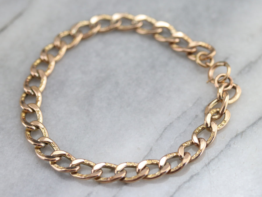 Antique Gold Fill Link Bracelet