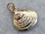 Gold Clam Shell Pendant or Charm