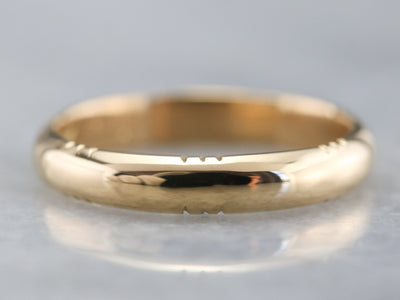 1940s Yellow Gold Wedding Band