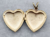 Vintage Gold Heart Etched Floral Locket