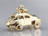 Yellow Gold VW Bug Car Charm