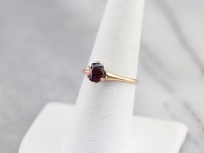 Purple Sapphire Solitaire Ring