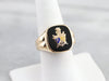 Men's Knight of Pythias Onyx Ring