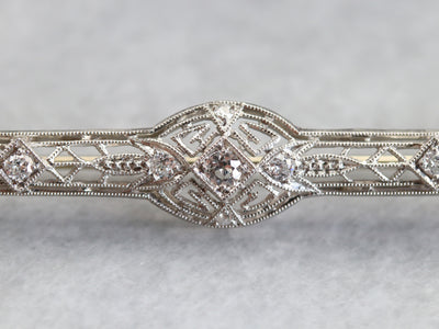 Edwardian Old Mine Cut Diamond Brooch