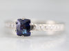 Ceylon Sapphire and Diamond Engagement Ring