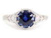 The Greenleaf Platinum Sapphire Solitaire by Elizbaeth Henry