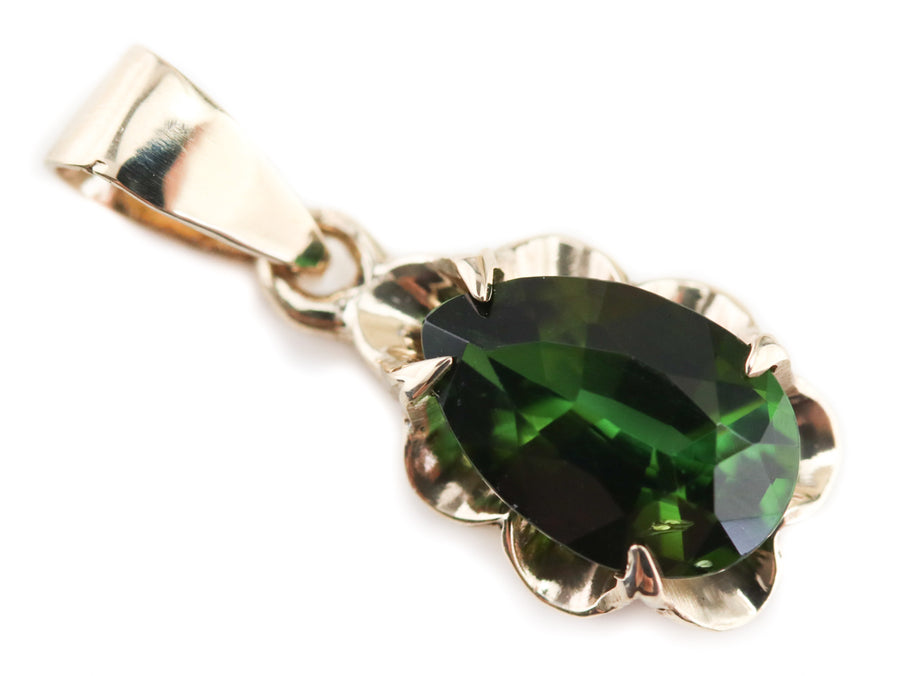 Green Tourmaline Azealia Pendant from The Elizabeth Henry Collection