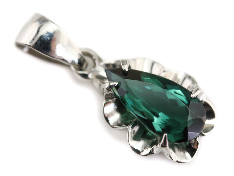 The Azealia Green Tourmaline Pendant by Elizabeth Henry