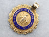 Antique Gold 1873 M.G.H Training School Medallion