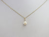 Gold Freshwater Pearl and Diamond Pendant