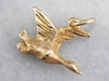 Flying Duck Gold Bird Charm