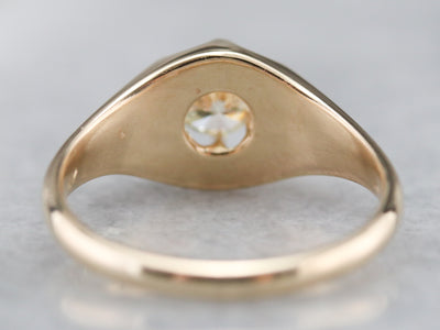 Unisex Diamond Belcher Ring