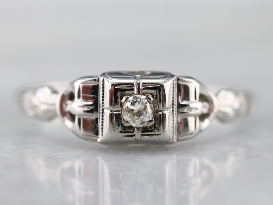 Late Art Deco Era Diamond Ring