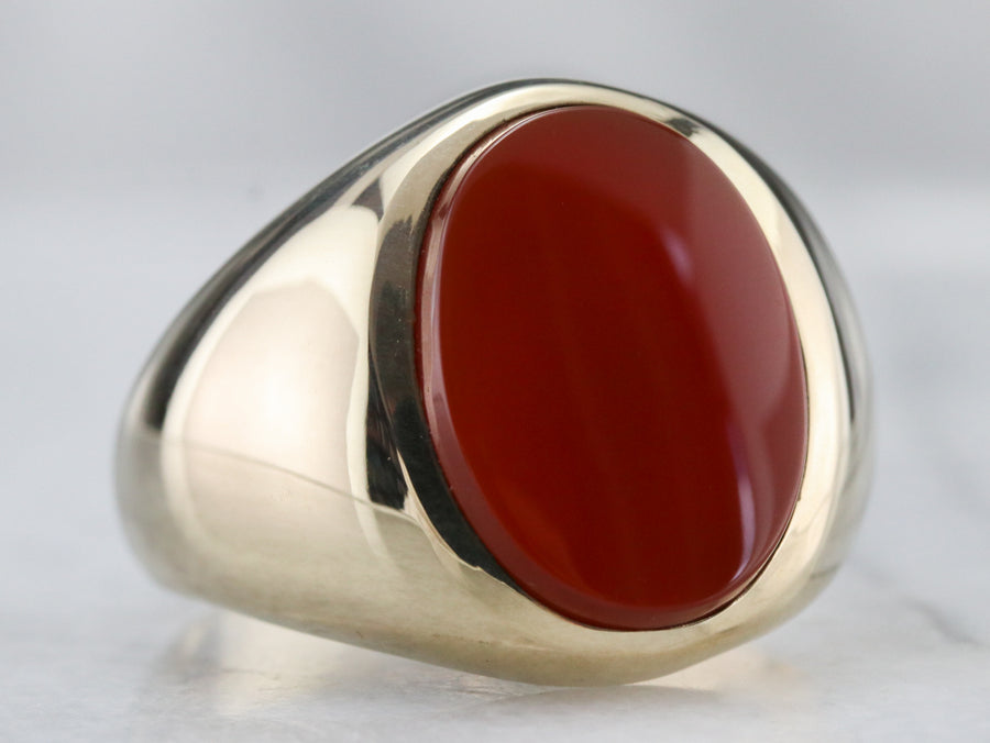 Men's Mid Century Carnelian Ring