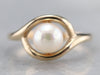 White Pearl Solitaire Ring