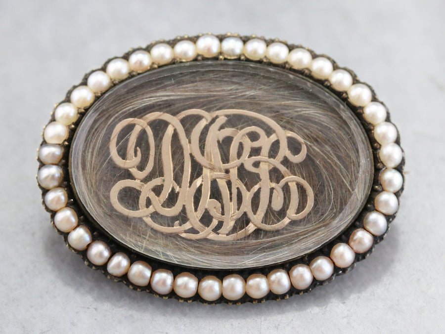 Victorian DNB Monogram Hair Pin