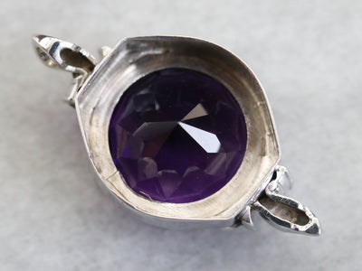 Amethyst and Diamond Cocktail Pendant