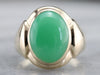 Men's Chrysoprase and Gold Statement Ring