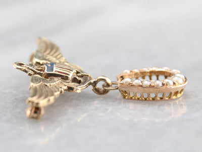 Lucky Naval Airman's Wings Brooch
