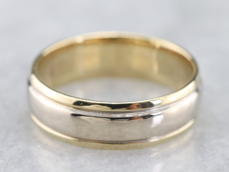 Two Toned Gold Wedding Band