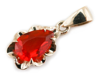 Fire Opal Azealia Pendant from The Elizabeth Henry Collection