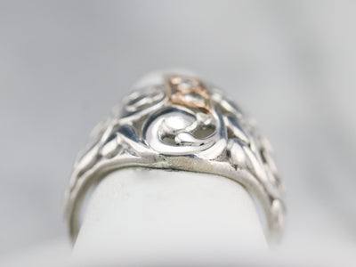 Mixed Era Diamond Filigree Ring