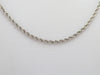 White Gold Rope Twist Chain