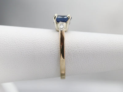 Retro Era Sapphire and Diamond Ring