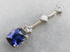 Sapphire and Diamond Drop Pendant