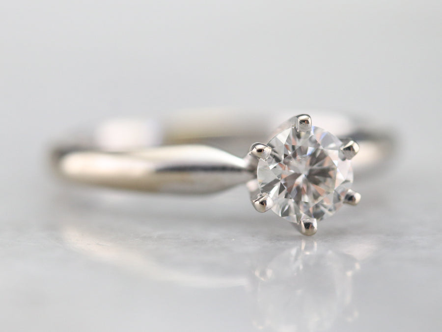 Traditional Diamond Solitaire Ring