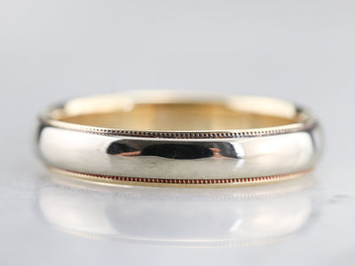 Platinum and Yellow Gold Wedding Band