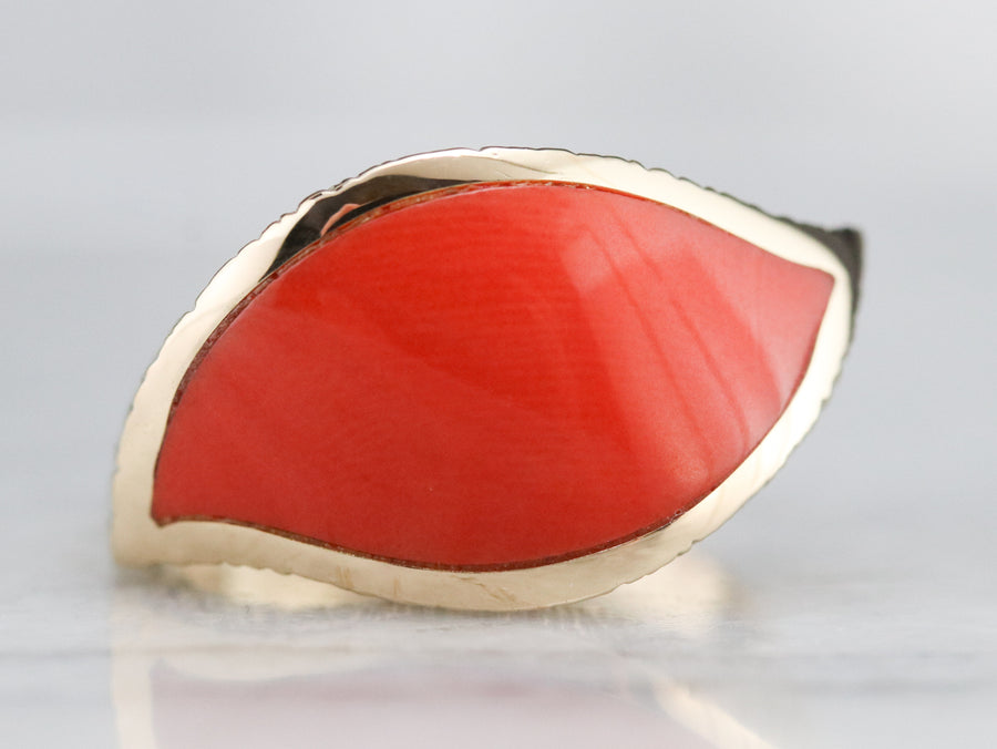 Funky Coral Fashion Ring
