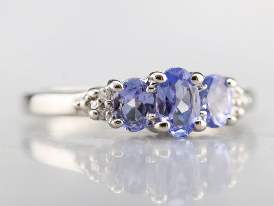 Tanzanite and Diamond Band