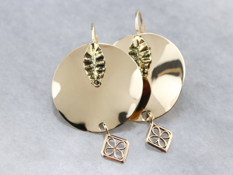 Polished Gold Drop Earrings