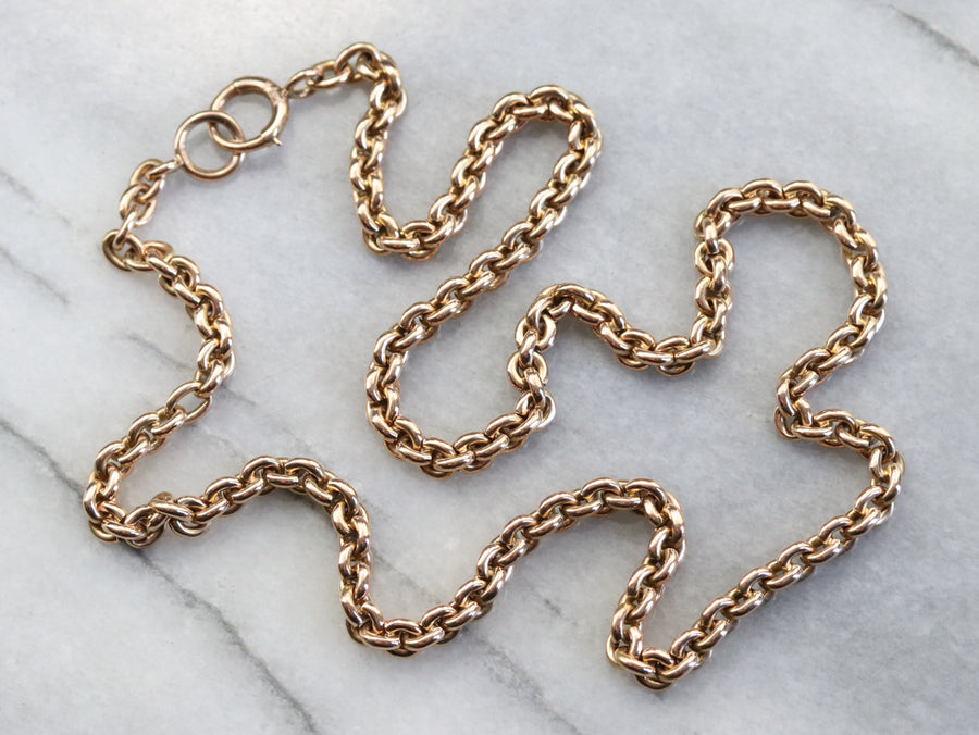 Antique Rose Gold Rolo Chain