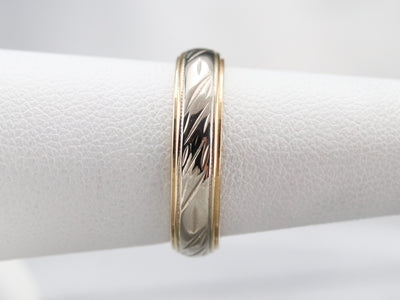 Two Tone Mid Century Pattern Band