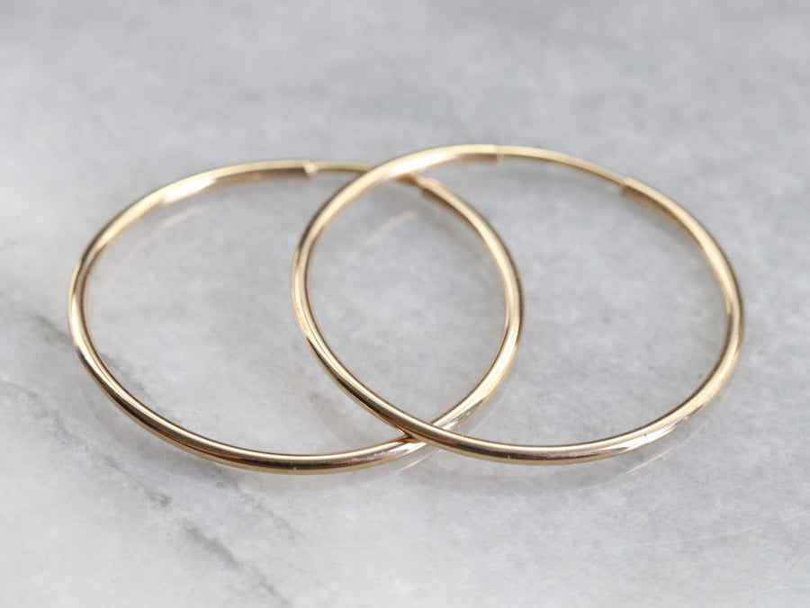 Skinny Gold Hoop Earrings